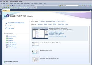 Microsoft Visual Studio 2010 - Start
